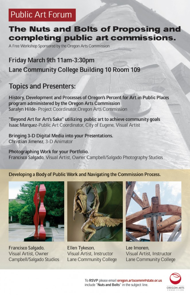 Oregon Arts Commission - Free Workshop on March 9th